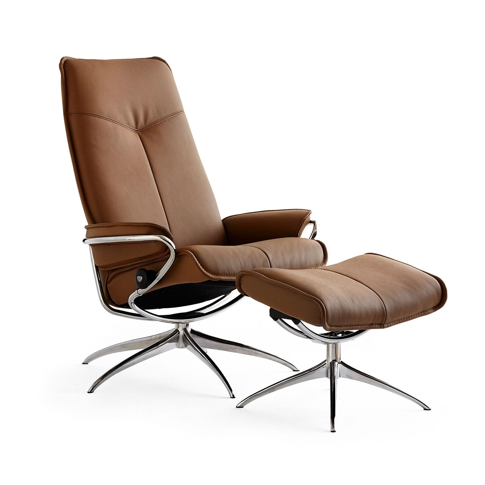Relaxsessel stressless  Stressless Sessel CITY High Back mit Hocker Taupe/Chrom