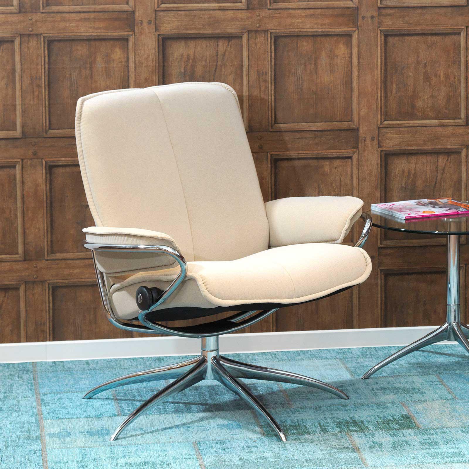 stressless sessel city low back latte chrom. Black Bedroom Furniture Sets. Home Design Ideas