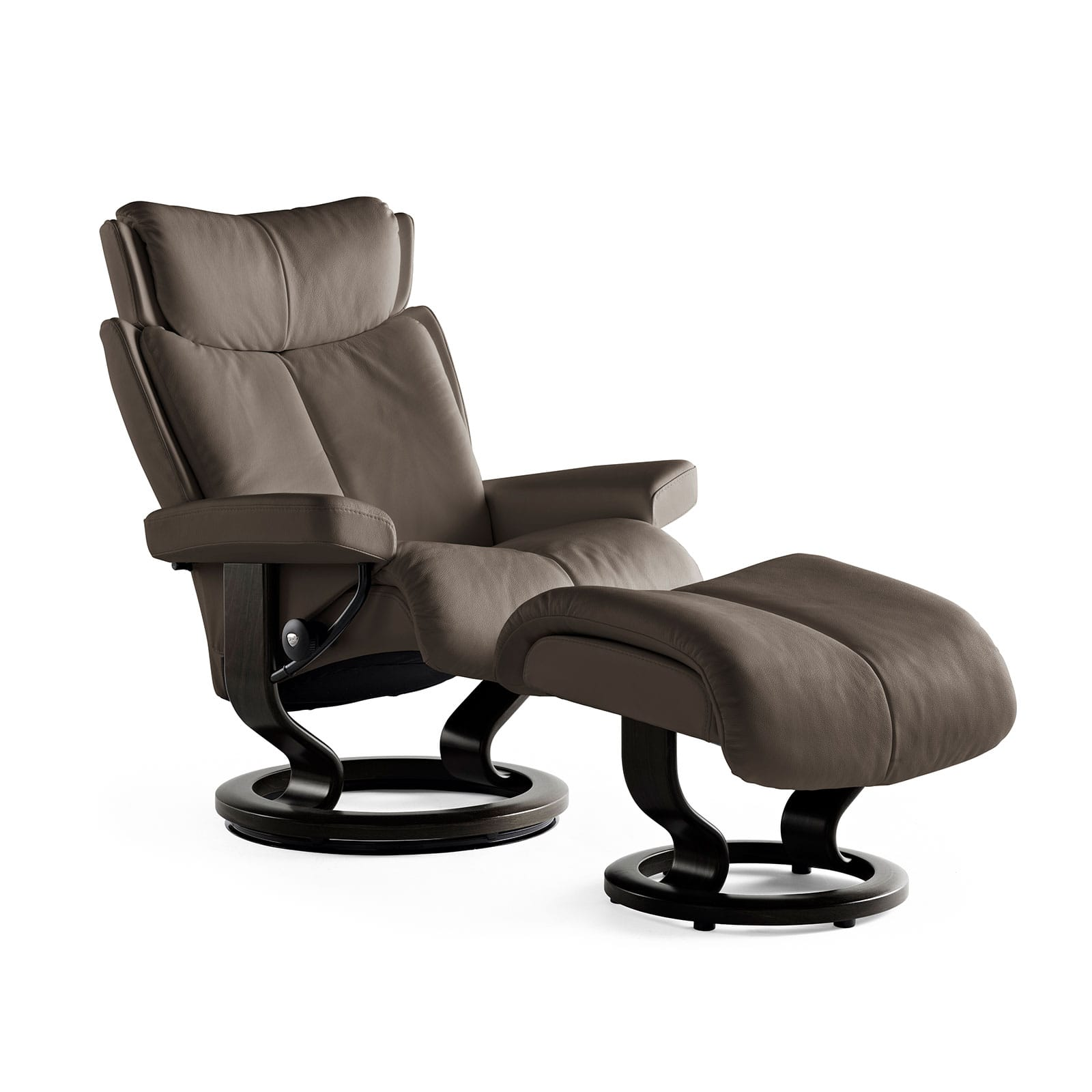 Relaxsessel stressless  Stressless Relaxsessel MAGIC Lederfarbe khaki Hocker | Stressless