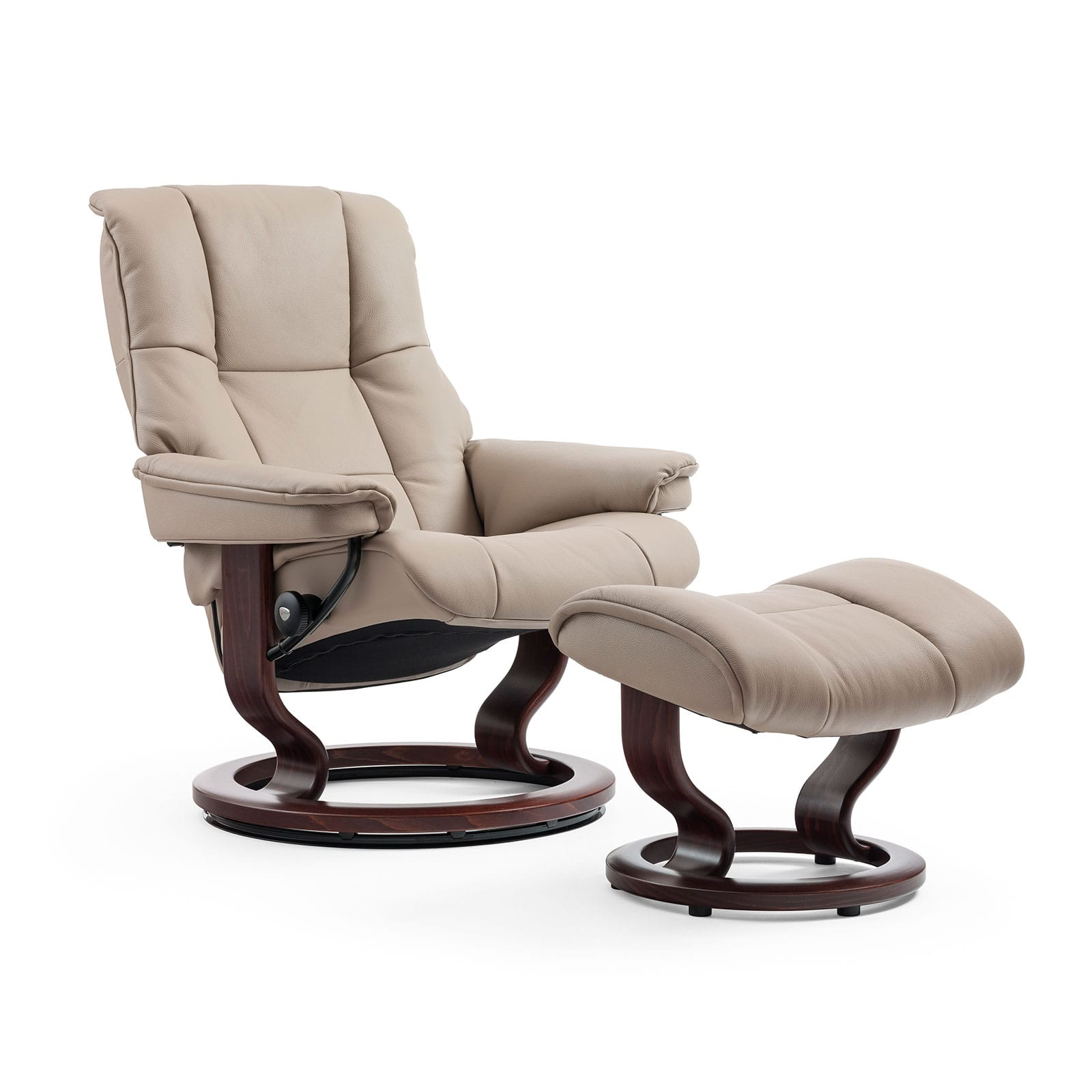 stressless sessel mayfair cori beige classic braun hocker. Black Bedroom Furniture Sets. Home Design Ideas
