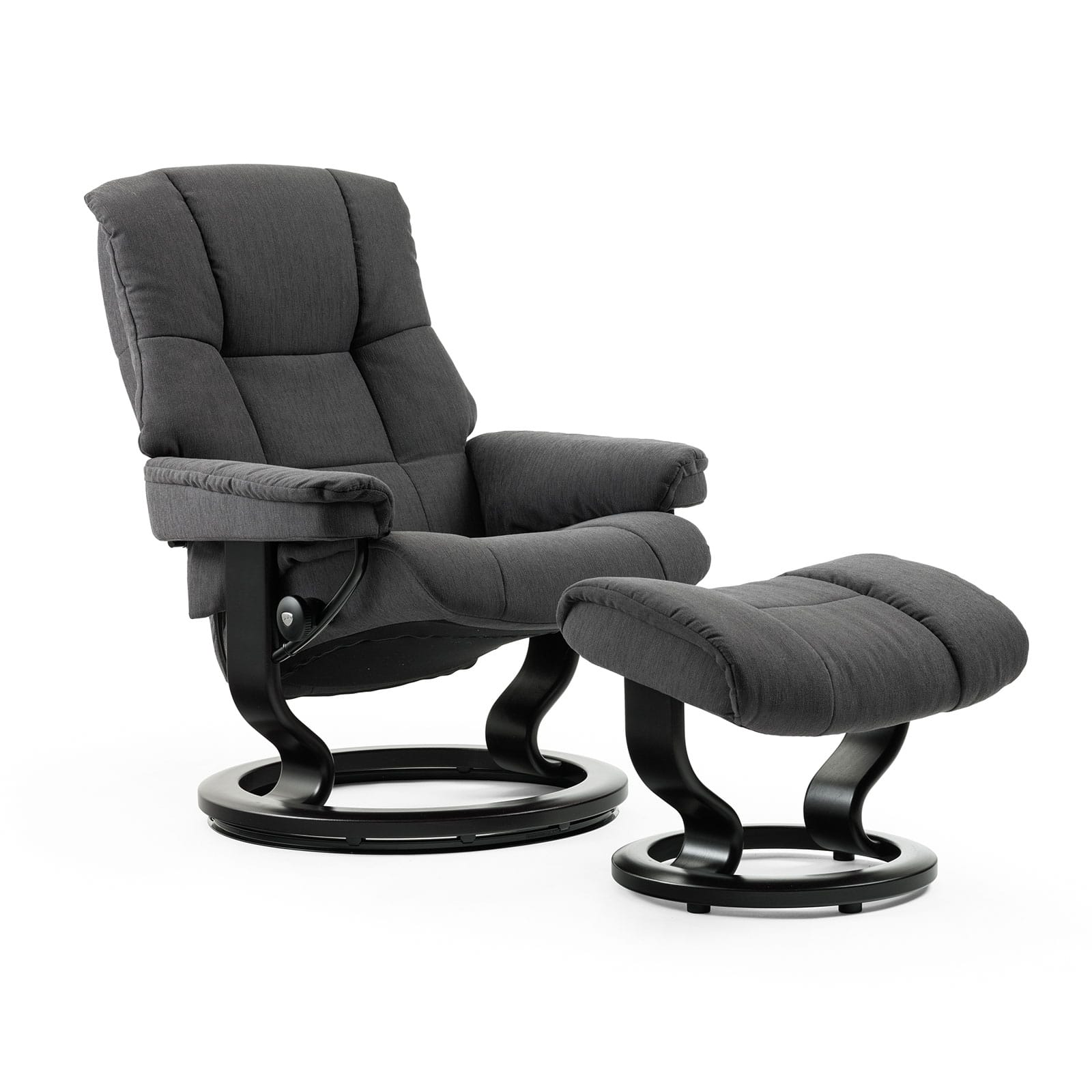 stressless mayfair stoff charcoal classic schwarz mit hocker. Black Bedroom Furniture Sets. Home Design Ideas