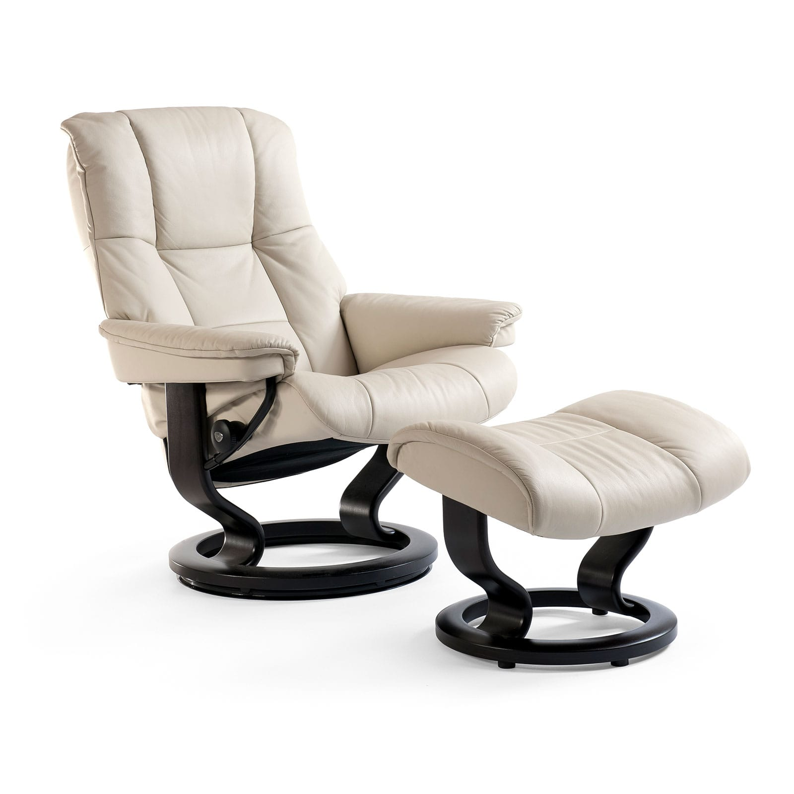 stressless sessel mayfair paloma light grey classic schwarz hocker. Black Bedroom Furniture Sets. Home Design Ideas