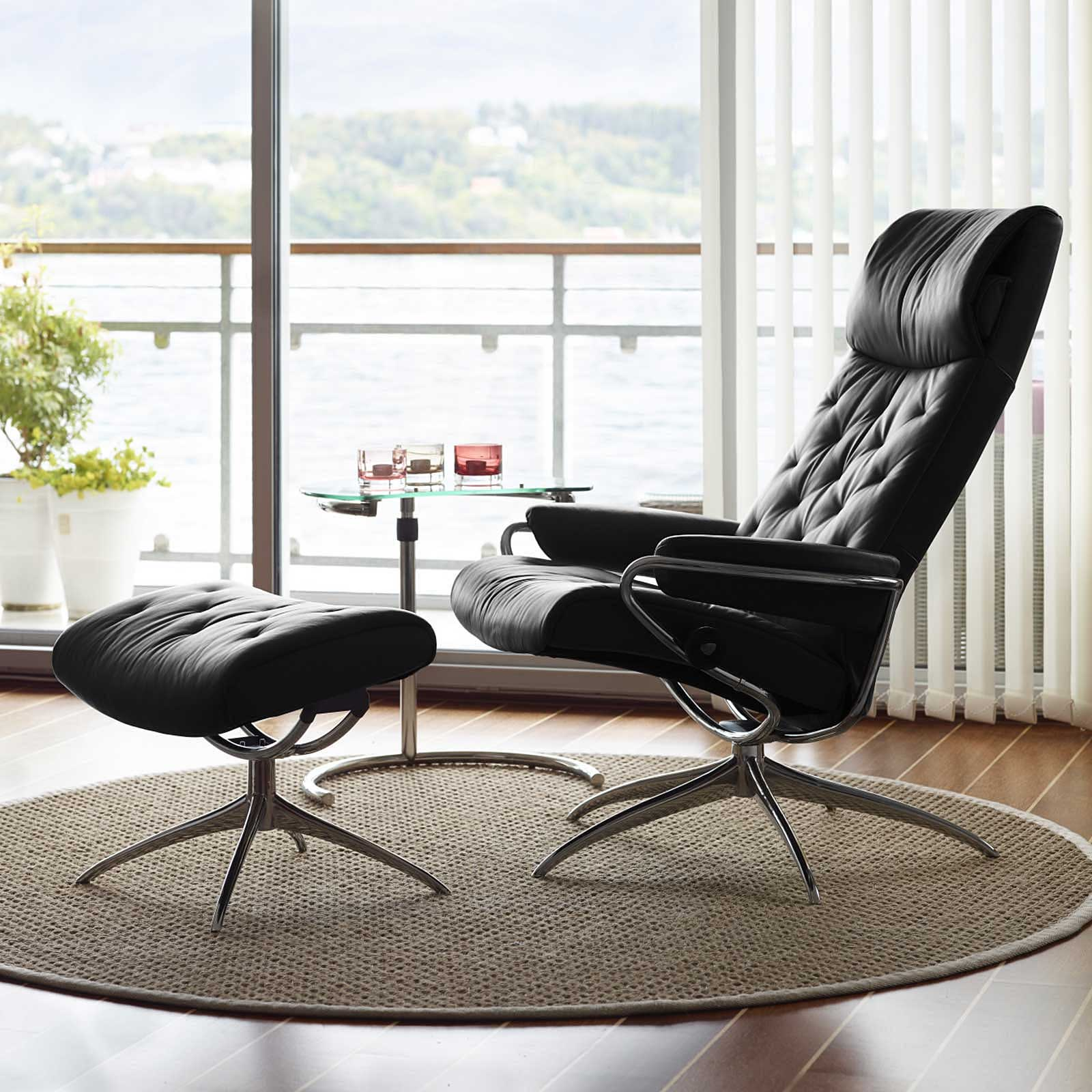 angebot stressless sessel metro m high back black hocker. Black Bedroom Furniture Sets. Home Design Ideas