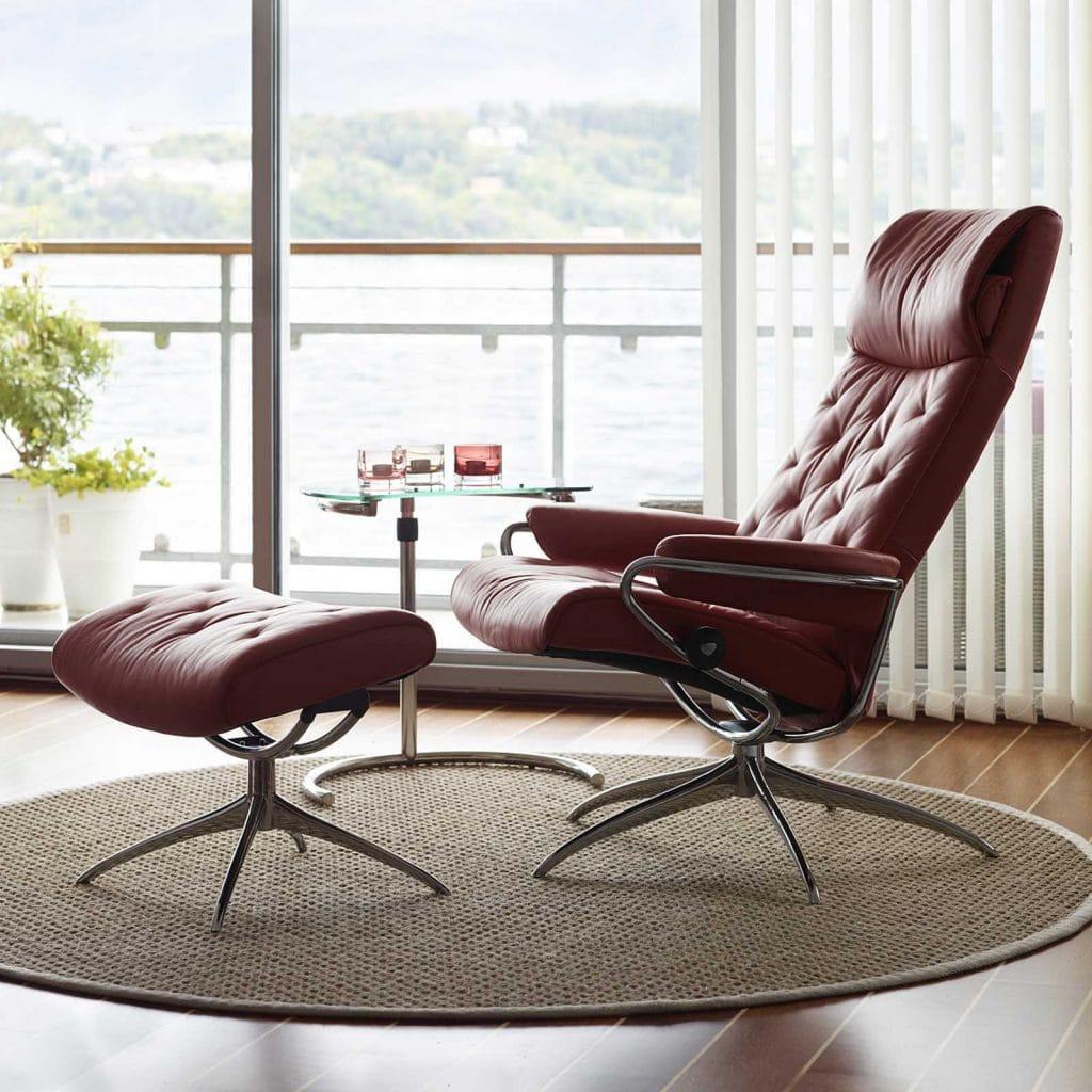 relaxsessel stressless metro highback batick burgundy. Black Bedroom Furniture Sets. Home Design Ideas