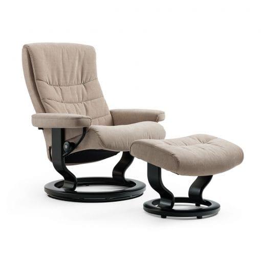 stressless relaxsessel nordic verona khaki mit hocker stressless. Black Bedroom Furniture Sets. Home Design Ideas