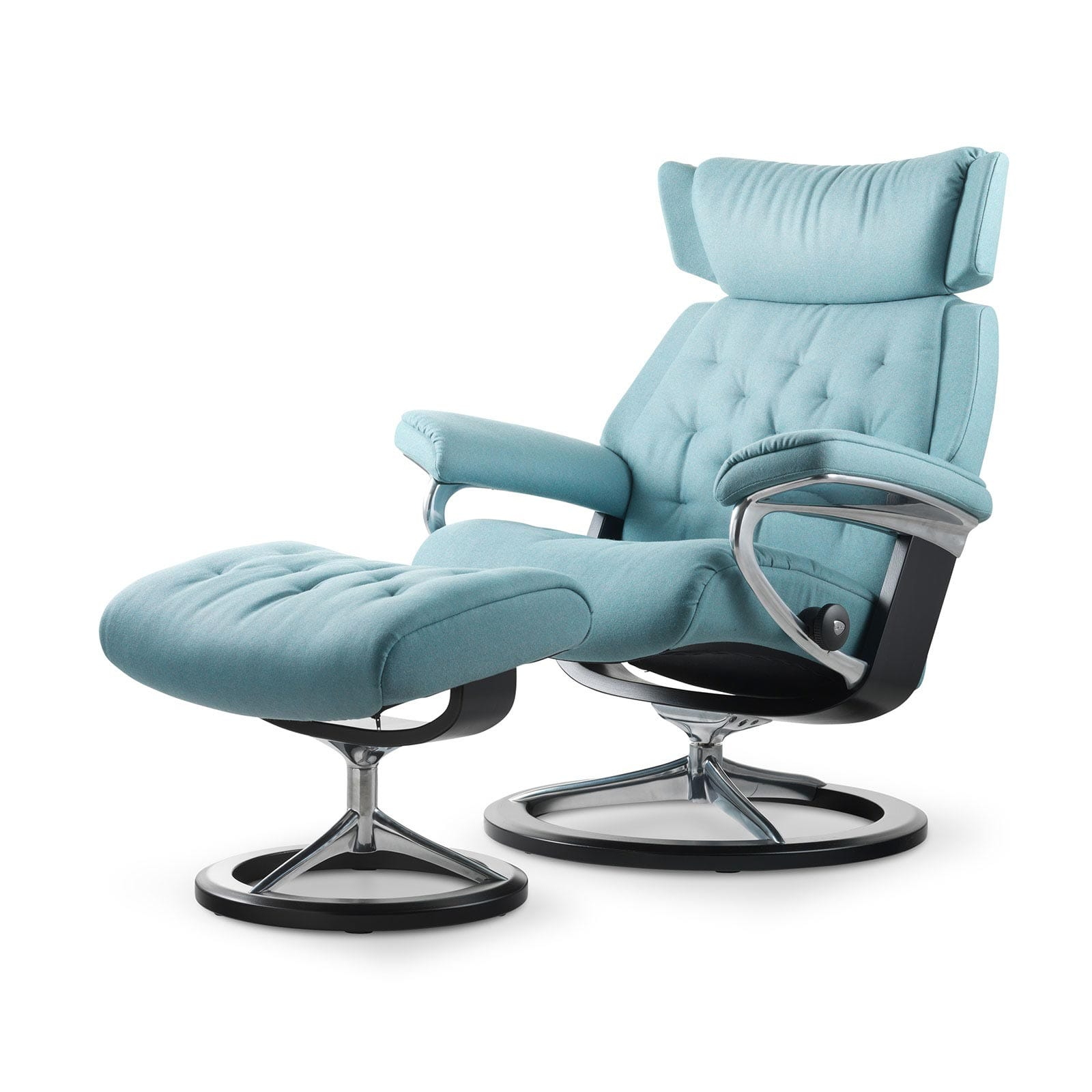 stressless skyline calido aqua signature wenge mit hocker. Black Bedroom Furniture Sets. Home Design Ideas