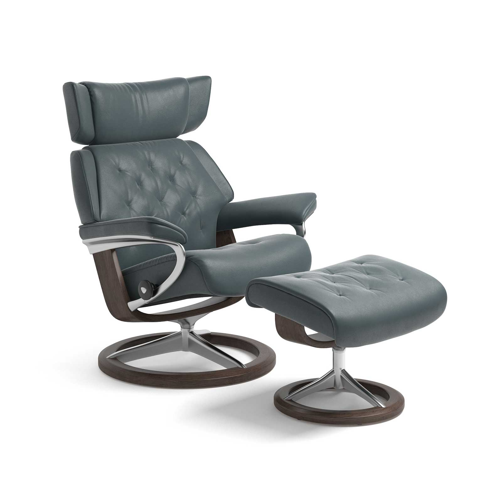 Stressless Sessel Skyline Cori Petrol Signature Mit Hocker