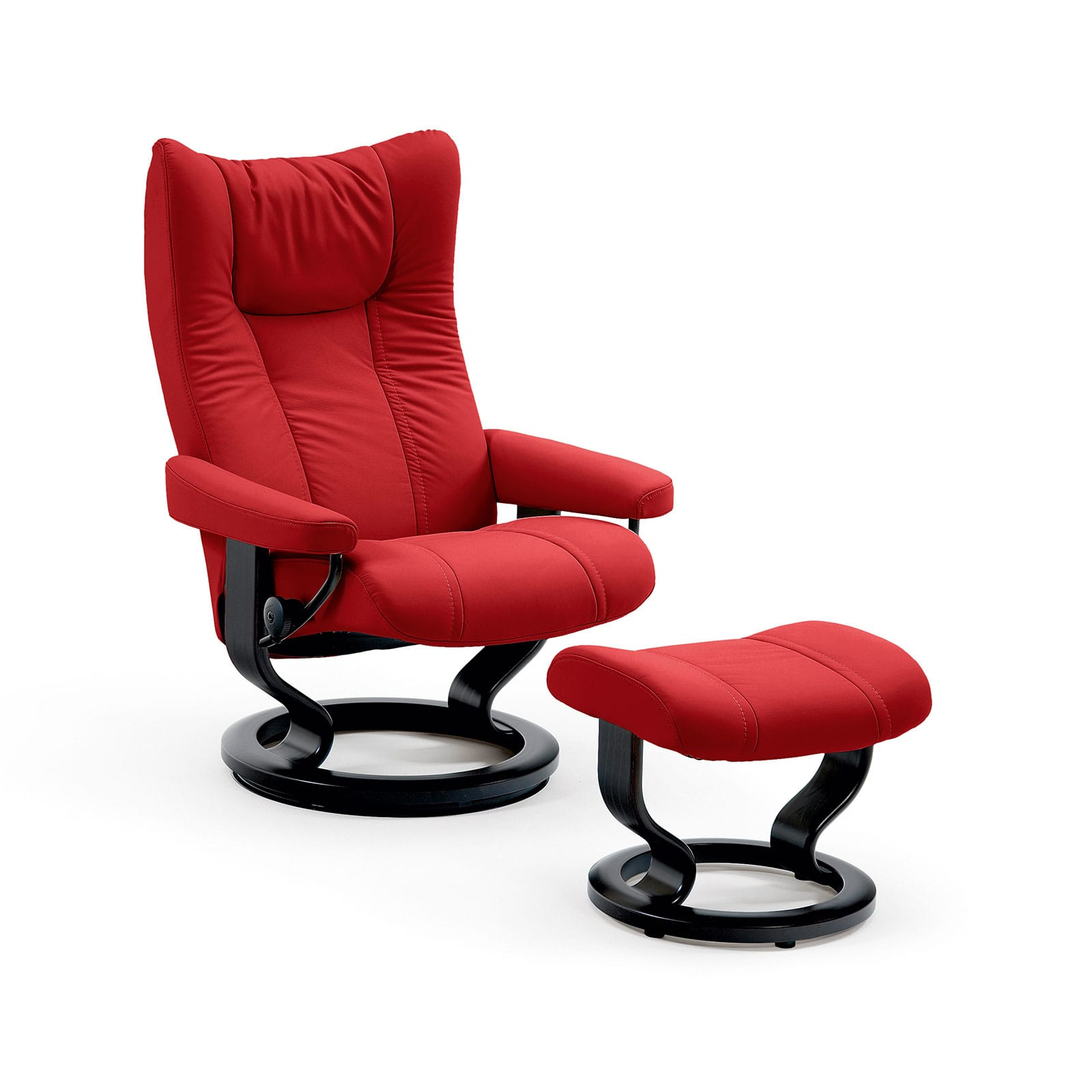 Stressless Sessel Wing Batick Chilli Red Mit Hocker Stressless