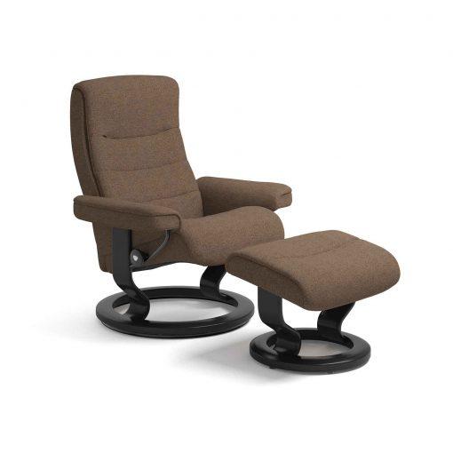stressless sessel nordic iris orange mit hocker stressless. Black Bedroom Furniture Sets. Home Design Ideas