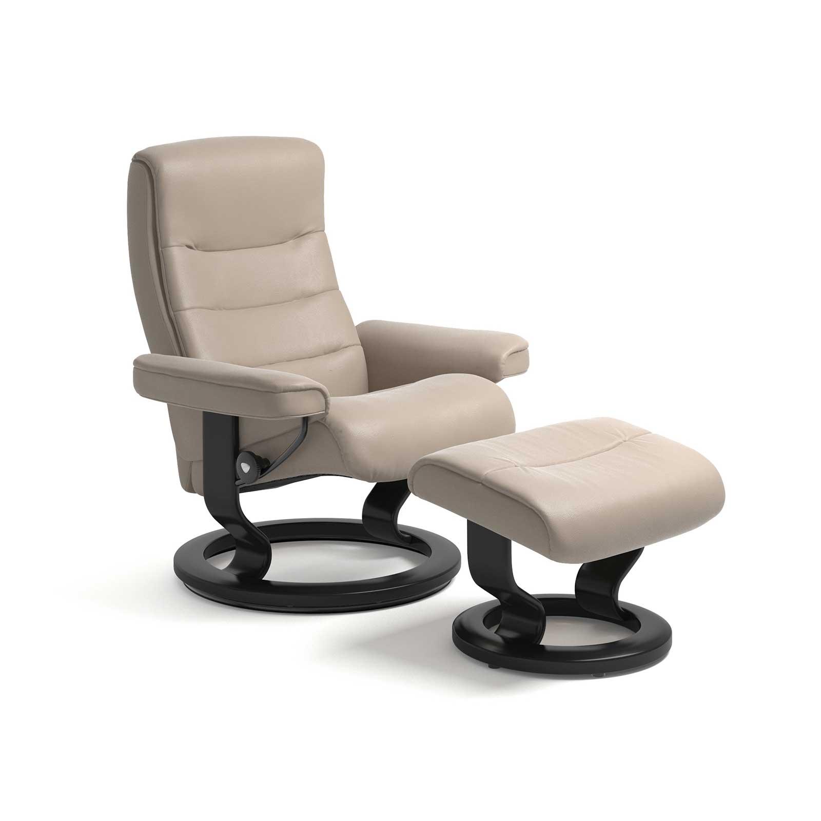 stressless sessel nordic cori beige mit hocker stressless. Black Bedroom Furniture Sets. Home Design Ideas