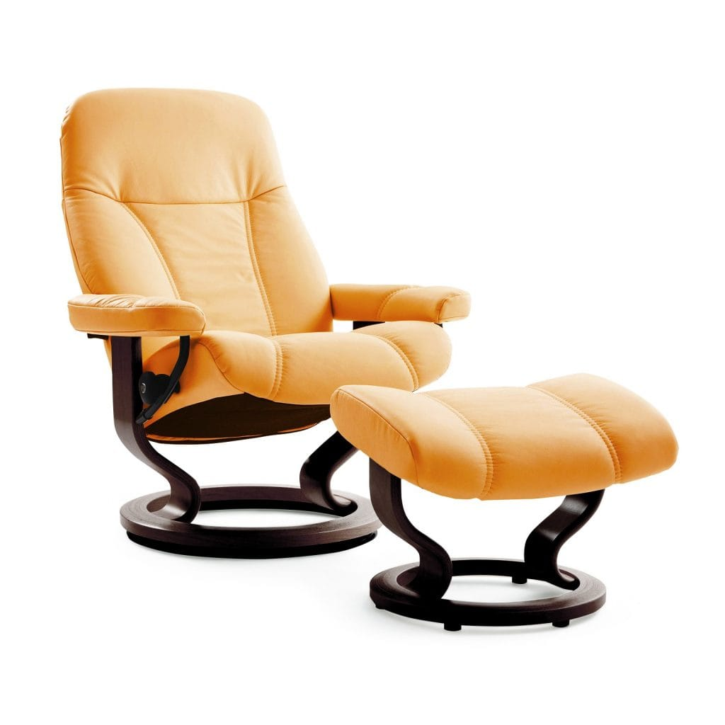 relaxsessel stressless consul paloma clementine untergestell brown mit hocker house of comfort. Black Bedroom Furniture Sets. Home Design Ideas