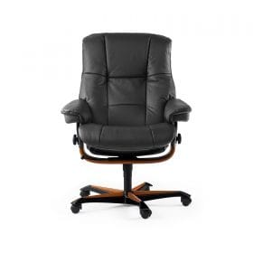 Sessel MAYFAIR Home Office Leder Paloma rock Gestell braun mit Rollen Stressless