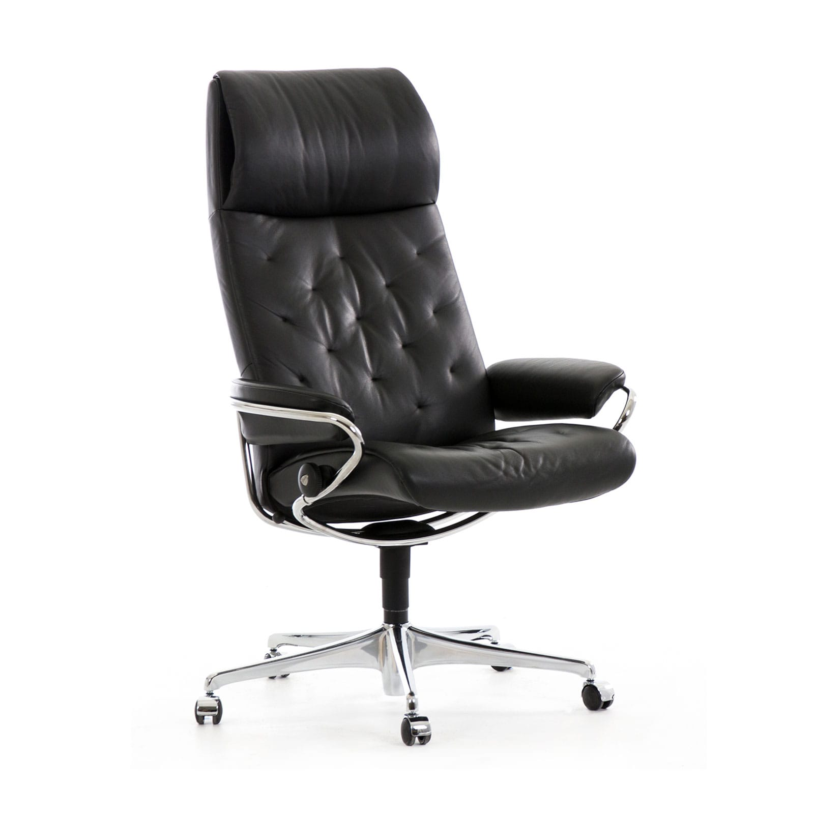 Stressless Metro Home Office High Back Paloma Schwarz Gestell Chrom