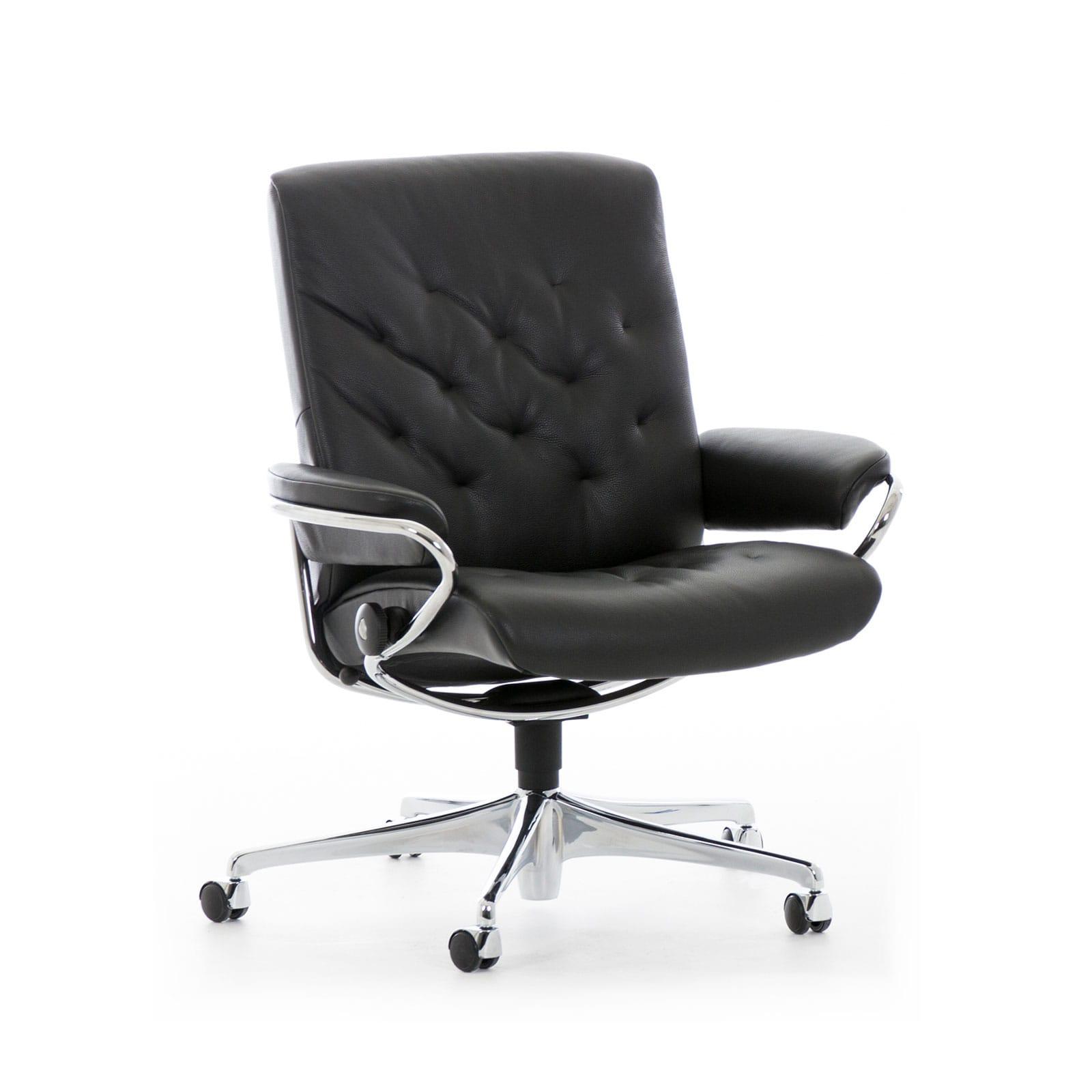 stressless metro home office low back paloma black gestell. Black Bedroom Furniture Sets. Home Design Ideas