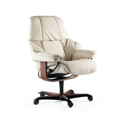 stressless reno home office m paloma light grey gestell. Black Bedroom Furniture Sets. Home Design Ideas