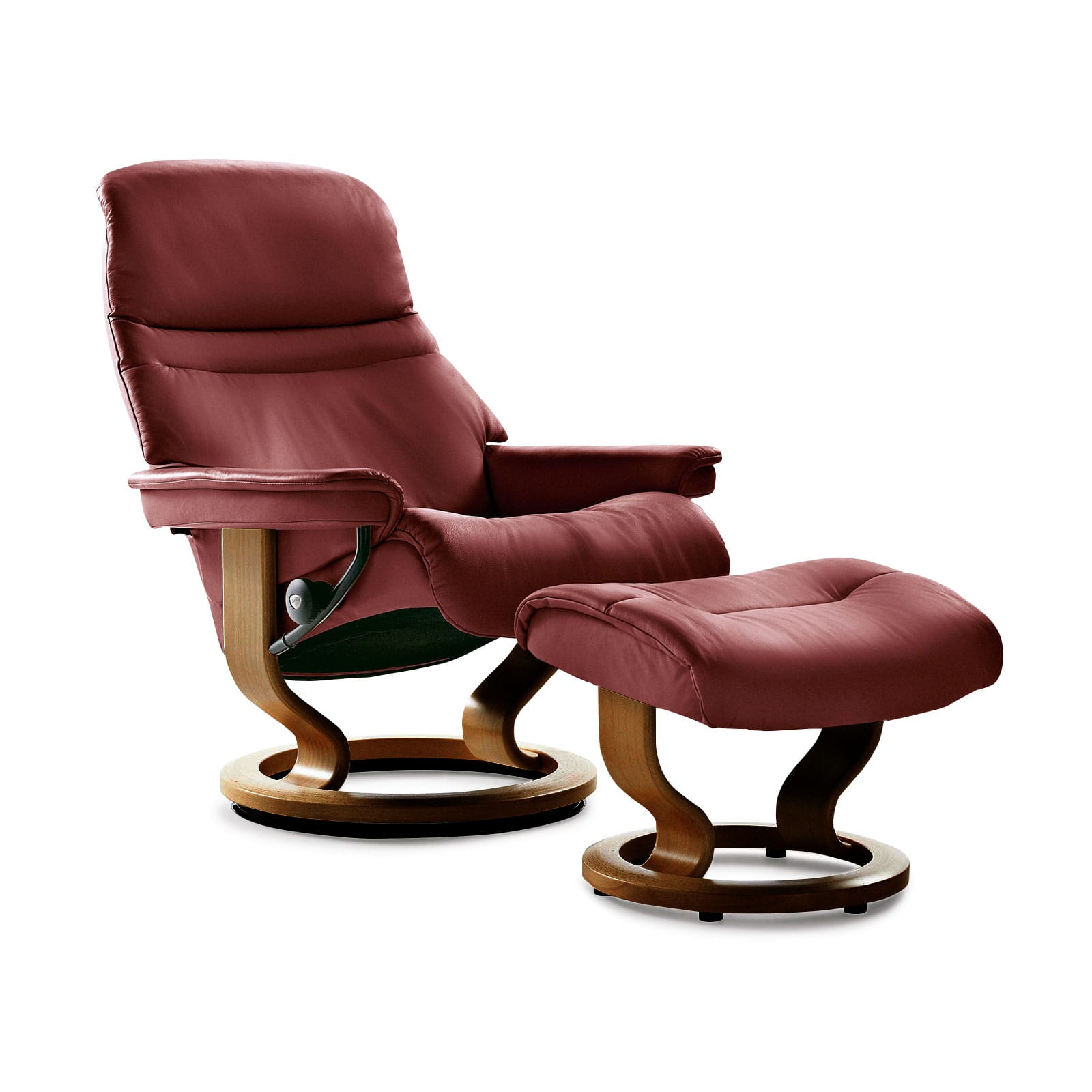 stressless sessel sunrise classic batick burgundy mit hocker. Black Bedroom Furniture Sets. Home Design Ideas