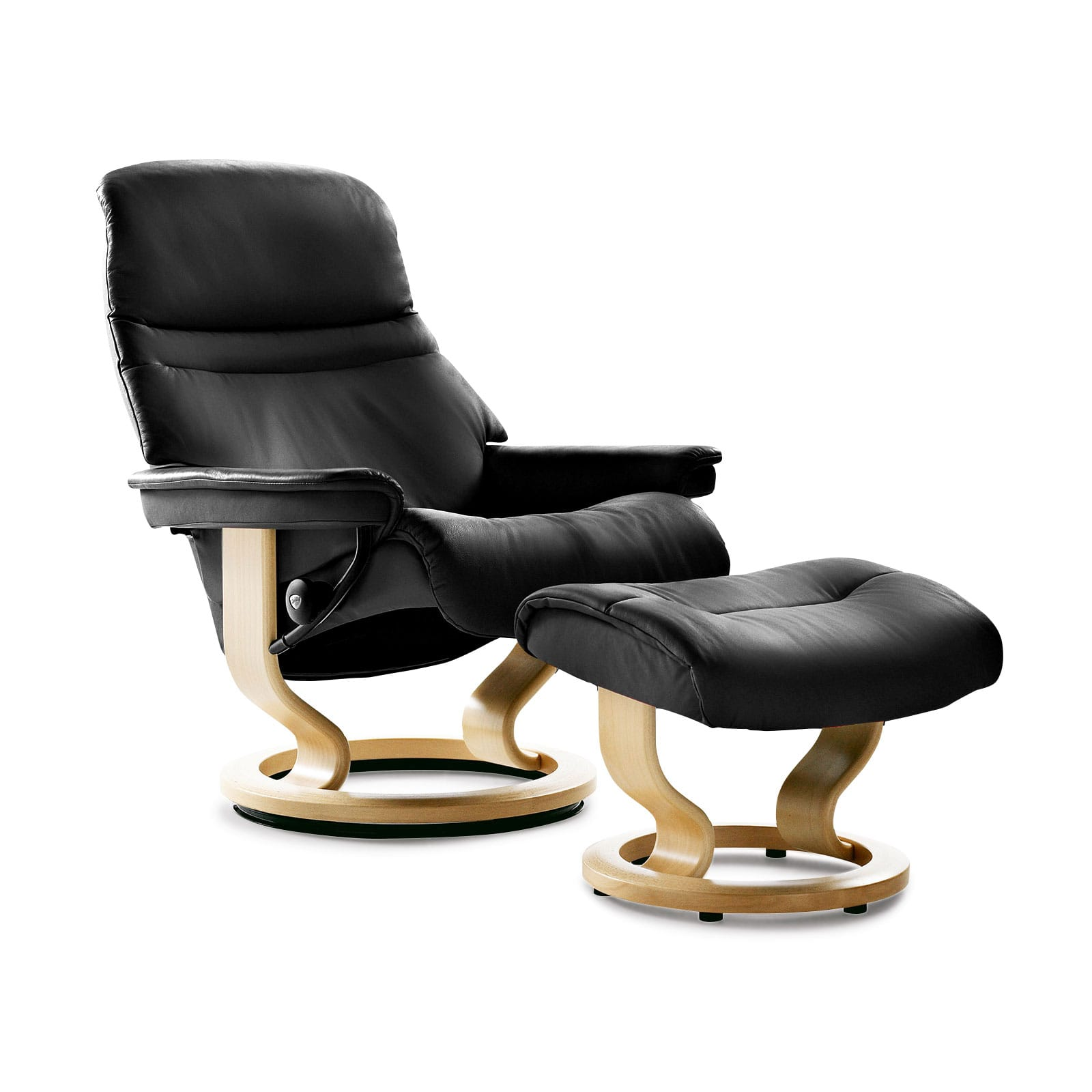 Stressless sessel sunrise m batick black mit hocker for Stressless sessel modelle