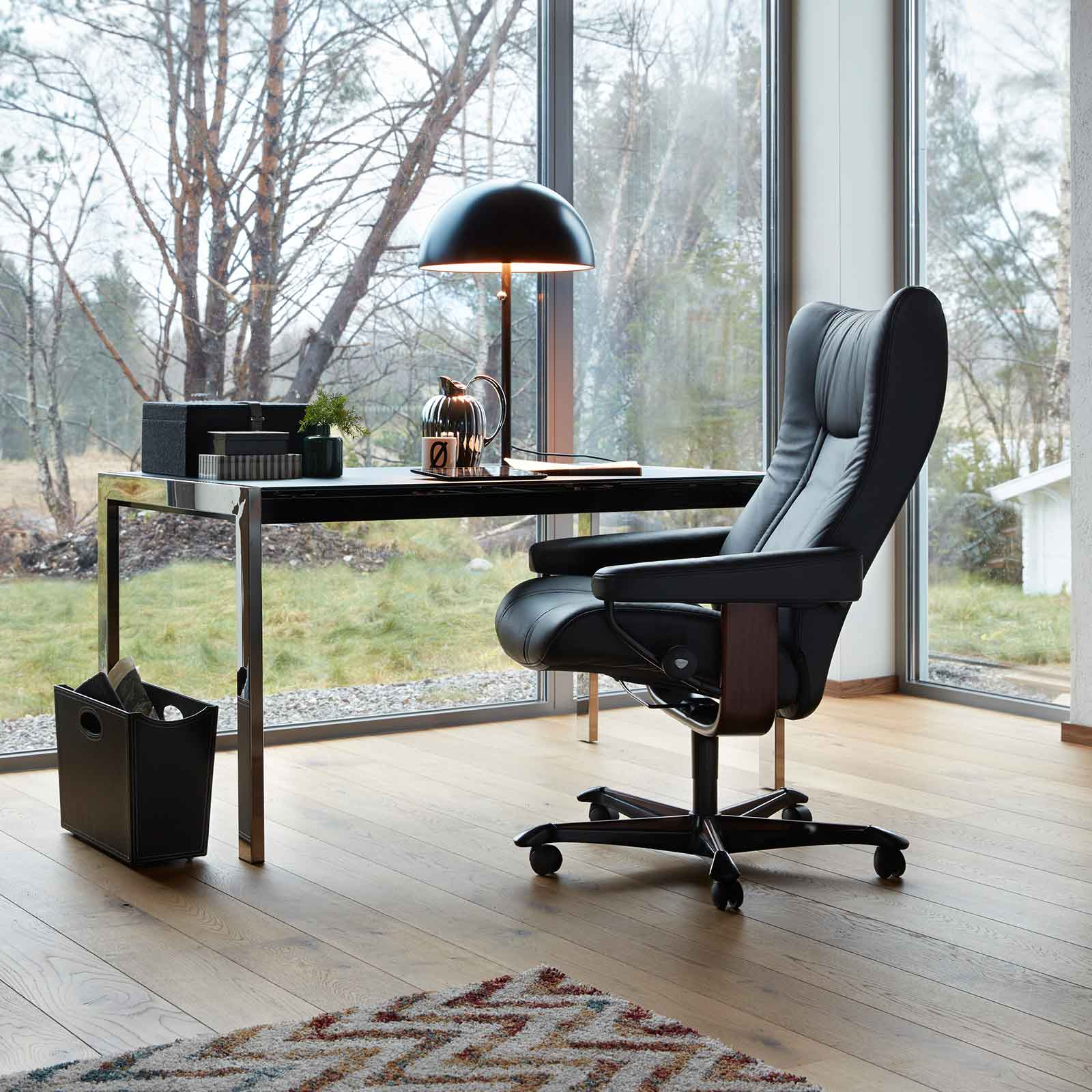 stressless sessel wing home office m black stressless. Black Bedroom Furniture Sets. Home Design Ideas