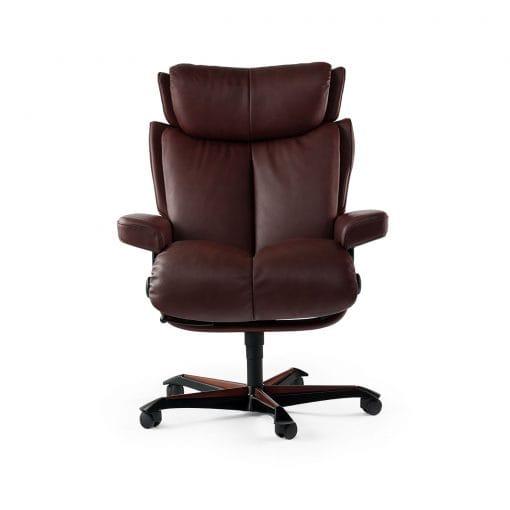 stressless sessel magic home office batick burgundy. Black Bedroom Furniture Sets. Home Design Ideas