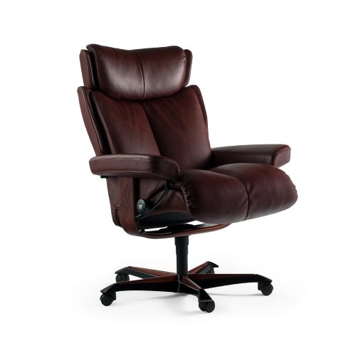 stressless sessel magic home office batick burgundy gestell braun. Black Bedroom Furniture Sets. Home Design Ideas