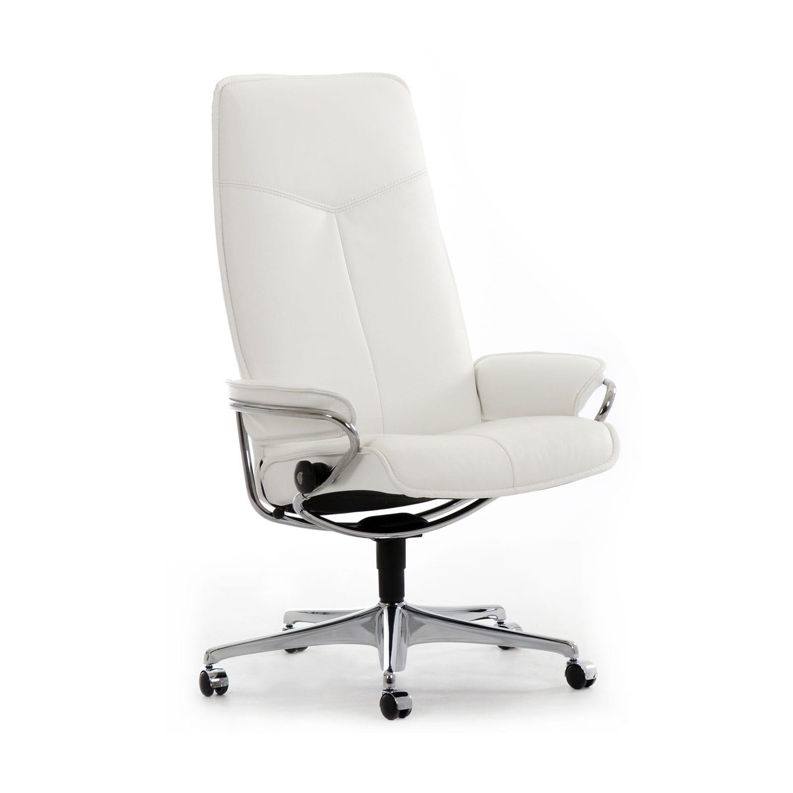 Stressless Sessel Bürostuhl City High Back M Snowchrom