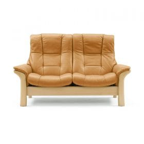 Sofa BUCKINGHAM hoch 2-Sitzer Leder Cori tan Gestell natur Stressless
