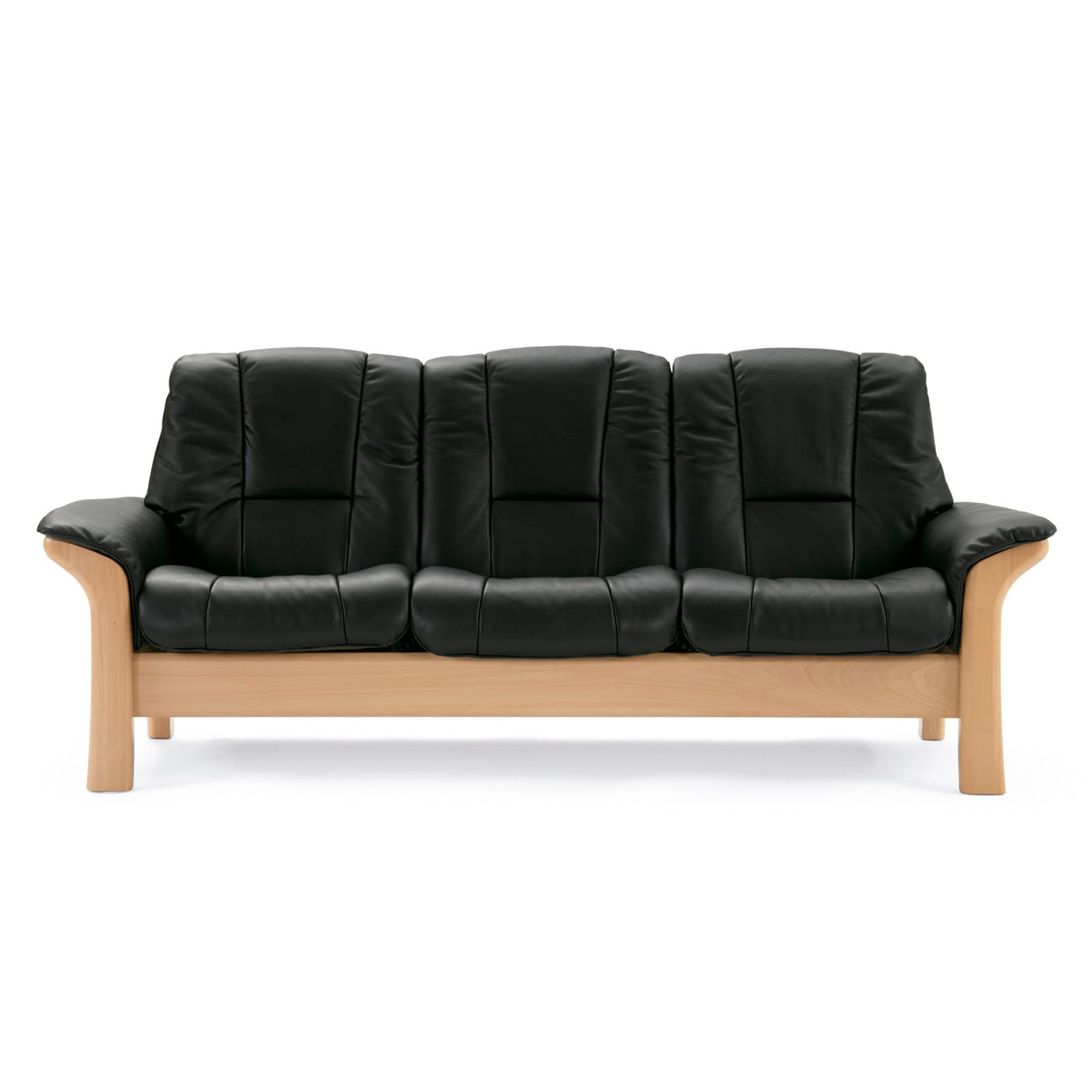 stressless sofa 3 sitzer buckingham l hoch black natur. Black Bedroom Furniture Sets. Home Design Ideas