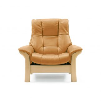 Sofa BUCKINGHAM hoch Leder Cori tan Gestell natur Stressless