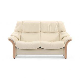 Sofa ELDORADO hoch 2-Sitzer Leder Batick cream Gestell natur Stressless