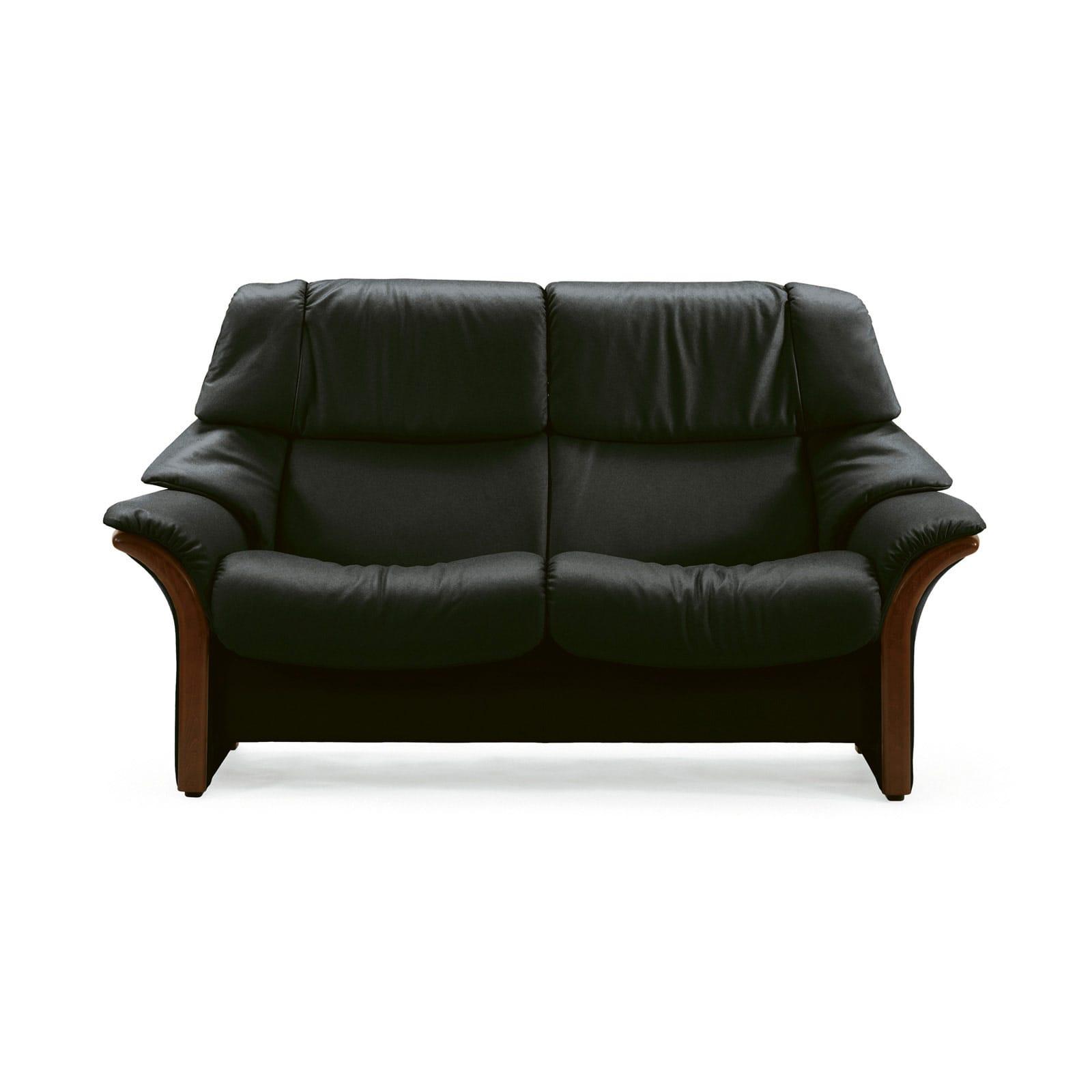 stressless sofa 2 sitzer eldorado m hoch black braun. Black Bedroom Furniture Sets. Home Design Ideas