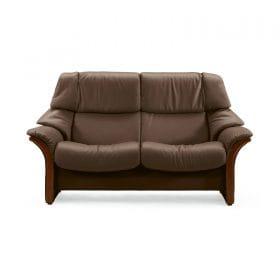 Sofa ELDORADO hoch 2-Sitzer Leder Paloma chocolate Gestell braun Stressless
