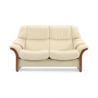 Sofa ELDORADO hoch 2-Sitzer Leder Paloma vanilla Gestell braun Stressless