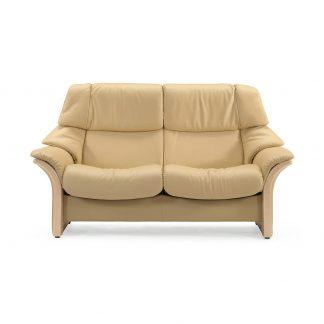 Sofa ELDORADO hoch 2-Sitzer Leder Paloma sand Gestell natur Stressless