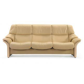 Sofa ELDORADO hoch 3-Sitzer Leder Paloma sand Gestell natur Stressless