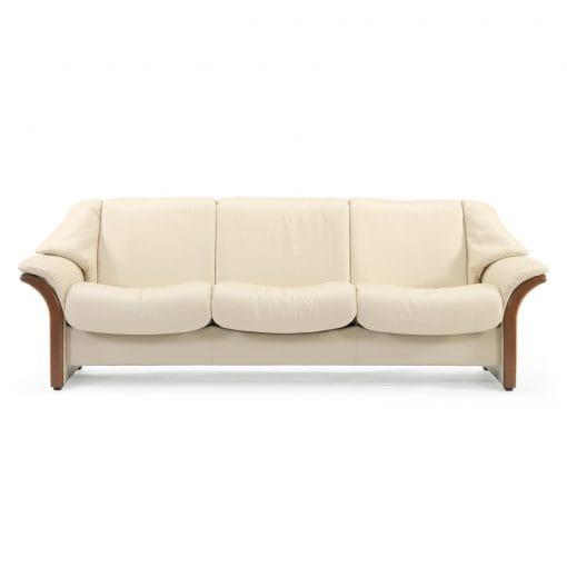 stressless sofa 3 sitzer eldorado m niedrig cream braun. Black Bedroom Furniture Sets. Home Design Ideas
