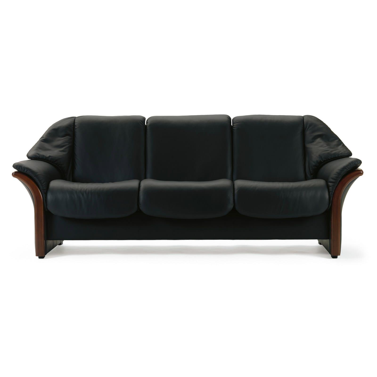 stressless sofa 3 sitzer eldorado m niedrig black braun. Black Bedroom Furniture Sets. Home Design Ideas