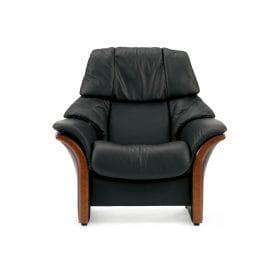 Sofa ELDORADO hoch Leder Paloma black Gestell braun Stressless