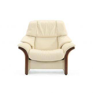 Sofa ELDORADO hoch Leder Paloma vanilla Gestell braun Stressless