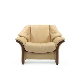 Sofa ELDORADO niedrig Leder Paloma sand Gestell braun Stressless