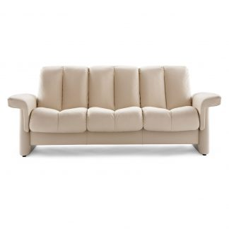 Sofa LEGEND niedrig 3-Sitzer Leder Paloma vanilla Stressless