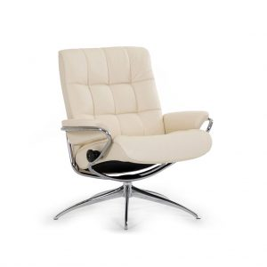 Sessel LONDON Low Back Leder Paloma vanilla Starbase Gestell chrom Stressless