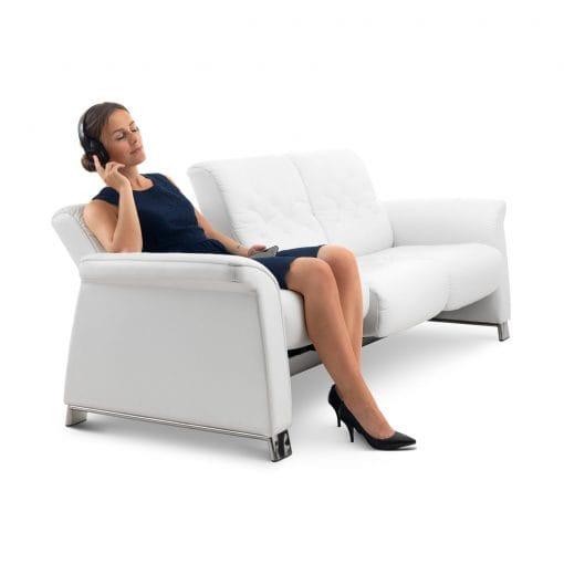 stressless sofa 3 sitzer metropolitan m batick snow. Black Bedroom Furniture Sets. Home Design Ideas