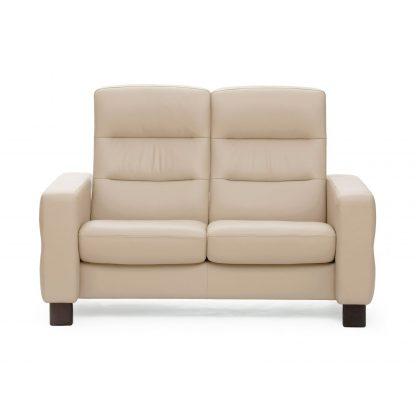 Sofa WAVE hoch 2-Sitzer Leder Batick cream Stressless
