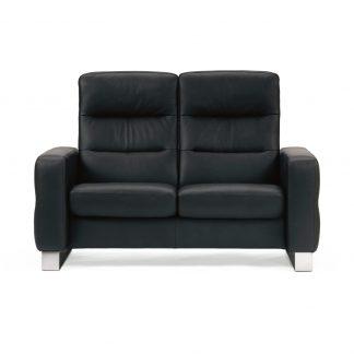 Sofa WAVE hoch 2-Sitzer Leder Paloma black Stressless