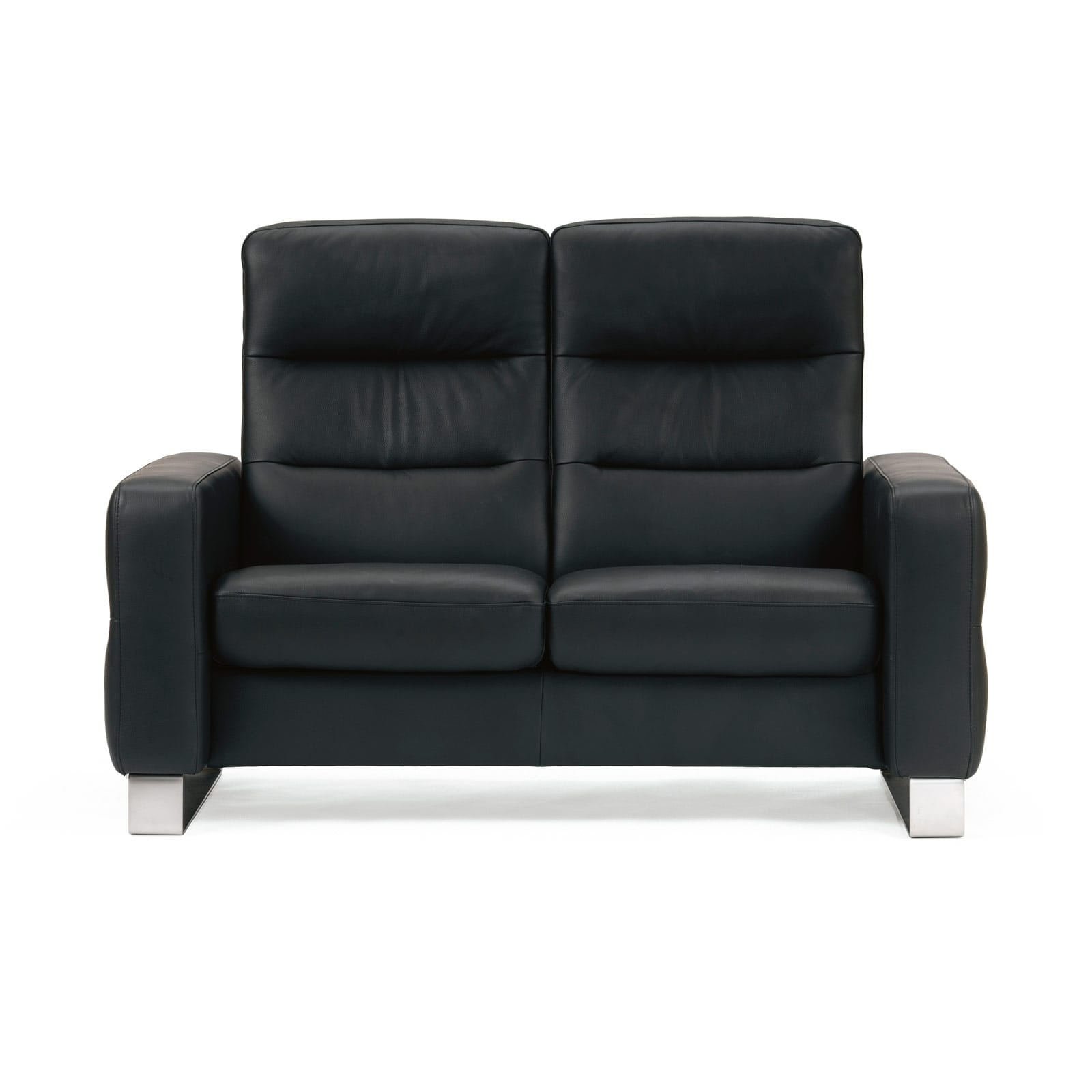 stressless sofa 2 sitzer wave m hoch paloma black. Black Bedroom Furniture Sets. Home Design Ideas