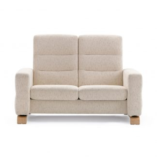 Sofa WAVE hoch 2-Sitzer Stoff Silva light beige Stressless