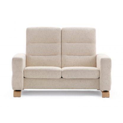 Sofa WAVE hoch 2-Sitzer Stoff Silva light beige Stressless