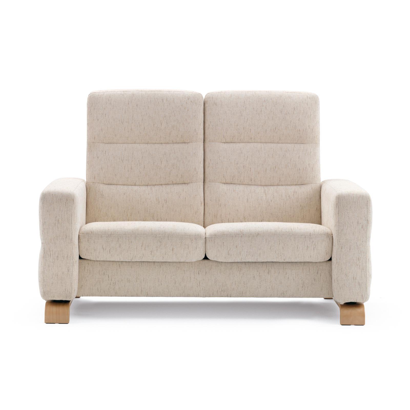 stressless sofa 2 sitzer wave m hoch silva light beige. Black Bedroom Furniture Sets. Home Design Ideas