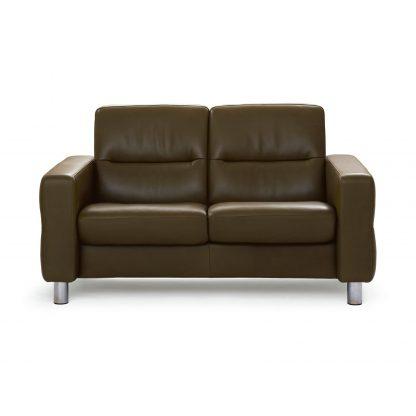 Sofa WAVE niedrig 2-Sitzer Leder Cori mole beige Stressless
