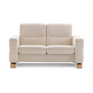 Sofa WAVE niedrig 2-Sitzer Stoff Silva light beige Stressless